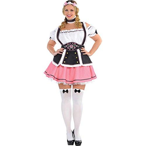amscan- Womens Costume Oktoberfest Wench Ladies Fancy Dress German Bavarian Beergirl-1 Pc Bavarois pour Femme, 844634-55, Multicolore, Adults Size 8-10