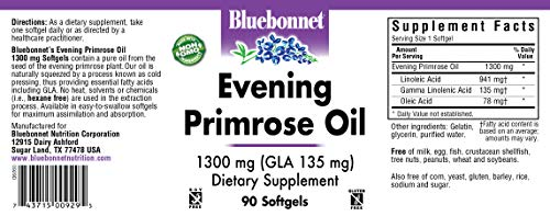 BlueBonnet Evening Primrose Oil Softgels, 1300 mg, 90 Count