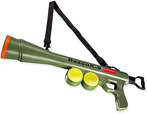 Paws & Pals BazooK-9 Tennis Ball Launcher Gun with 2 Squeaky Balls