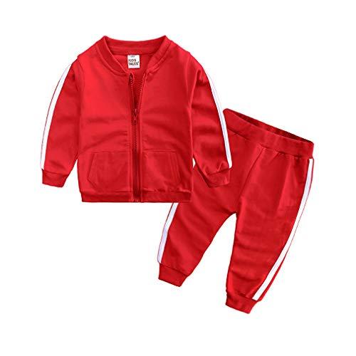 Kunfang Bébé Survêtement Casual Enfants Garçon Fille Zipper Veste Pantalon 2 Pcs Ensembles Enfants Loisirs Sport Suit Infantile Vêtements