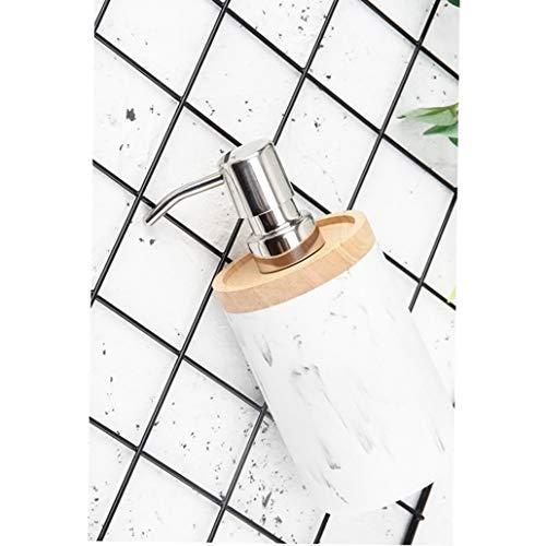 Bomba de jabón líquido de loción recargable Alimentador del jabón líquido Bomba de llenado de la resina blanca Mano de baño elegante Comercial duradero no es fácil de Rust Loción dispensadores de jabó