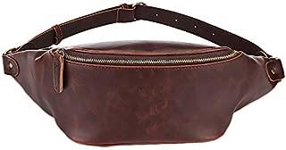SODIAL Belt Bag for Women Waist Bags Men'S Belt Pack Handy Waterproof Fanny Pack Ladies Leather Chest Bag Mens Bags Brown
