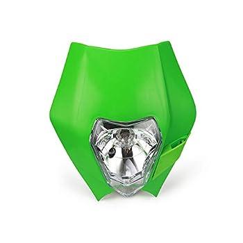 Universal 12V 35W Motorcycle Supermoto Halogen Headlight Indicator Fairing Lampshade for For Dirt Bike Motor Enduro Green