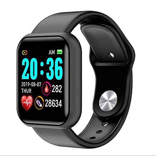 GKMM Reloj Inteligente Impermeable, rastreador de Fitness con calorías, Distancia, Calidad del sueño, Monitor de Ritmo cardíaco, Banda Inteligente para Adultos con el Mensaje, Pantalla táctil