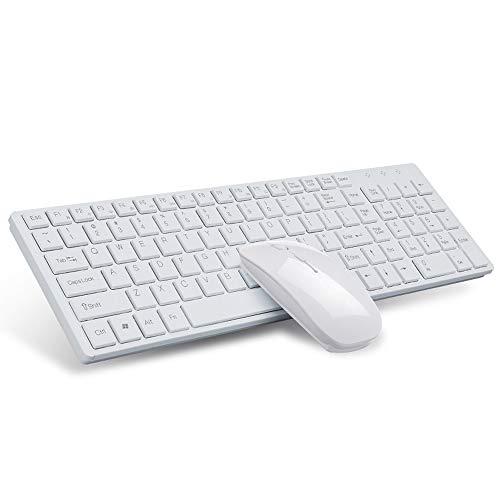 Byx- Bluetooth draadloos toetsenbord en muis Set - Laptop kleine muis USB, ultradun toetsenbord/Micro waterdicht -toetsenbord