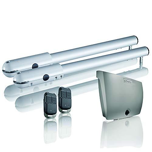 Somfy 2400781 SGS 501 - Motorización sin finos para puerta batiente | Puerta hasta 5 m | Ángulo máximo de 120° | Incluye 2 mandos Keypop RTS