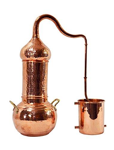 Copper Garden Destille Essence 2 Liter mit Kolonne - Legal in DE, at, IT, CH - Heimbrennerei für Hydrolate und ätherische Öle - Kolonnenbrennerei