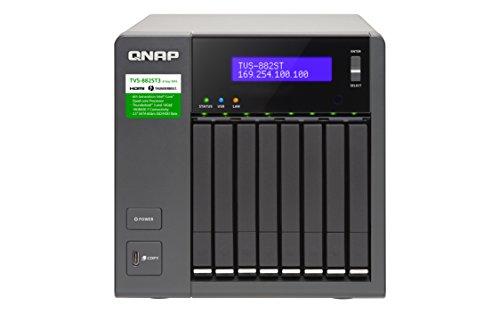 QNAP TVS-882ST3-i7-16G8-Bay 6,35cm 2,5Zoll SSD/HDD Thunderbolt 3 NAS SATA 6G Core i7-6700HQ 2.6 GHz