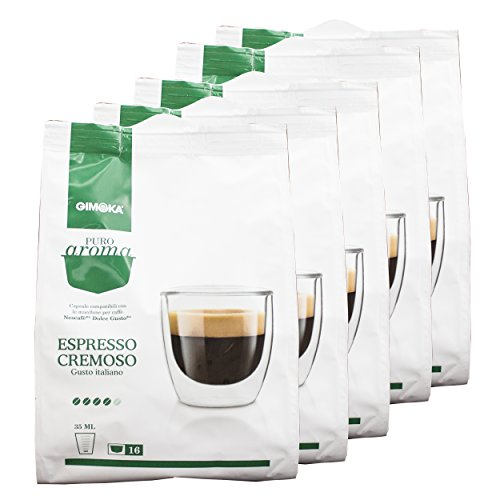 Aroma de café Gimoka puro Cremoso, gusto Italiano, café, café de cápsulas de Nescafé Dolce Gusto con, de colour verde, 80 cápsulas
