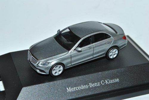 Herpa Mercedes-Benz C-Klasse Limousine Palladium Silber Grau W205 Ab 2014 H0 1/87 Modell Auto