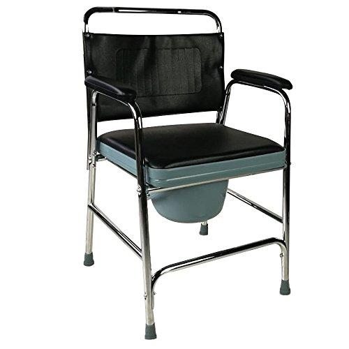 Mobiclinic, Velero, Silla con WC o inodoro para discapacitados, minusválidos, ancianos, Plegable, Reposabrazos, Asiento ergonómico, Conteras antideslizates