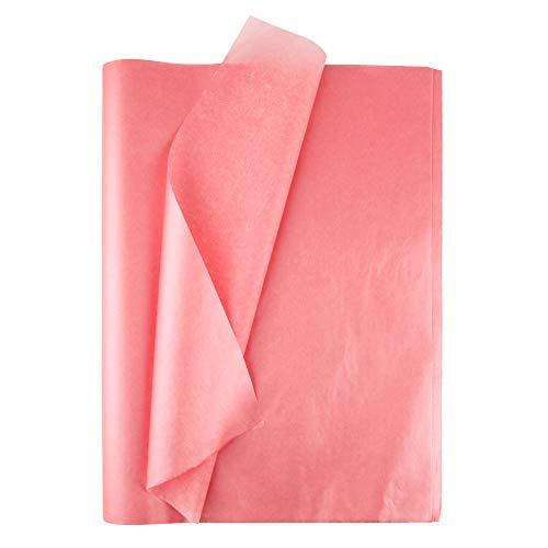 Seidenpapier 100 Blatt Roségold Seidenpapier Metallic Geschenkpapier für Weihnachtstag Hochzeit Bastelarbeit Geschenkverpackung DIY 50cmx35cm