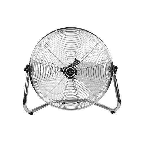 EDM 33934 Ventilador Industrial de Suelo 45W, Cromado, 30 cm