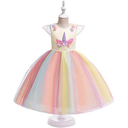 Vestido de nia de princesa Pettiskirt de color vestido de red, vestido de princesa para nios, vestido de unicornio