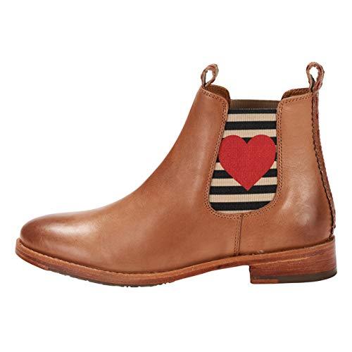 CRICK IT Damen Chelsea Boot Julia mit Herz Dekorative Naht