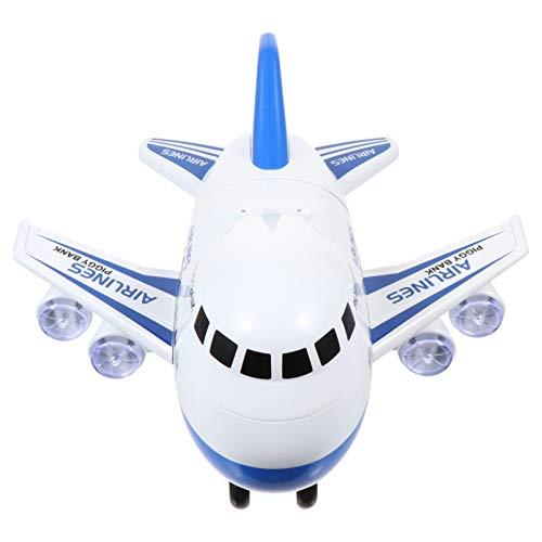 BESPORTBLE Juguetes de Avión para Niños Pequeños Modelo de Avión Hucha de Juguete de Reconocimiento Facial Que Ahorra El Bote del Banco de Monedas Juego Azul Recargable