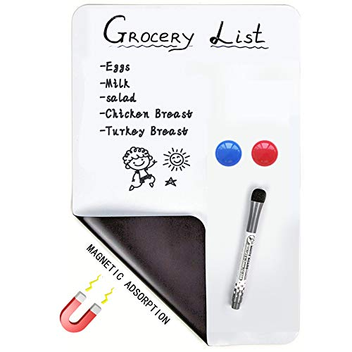 Magnetic Dry Erase Whiteboard Sheet for Fridge (A3 with Pen)