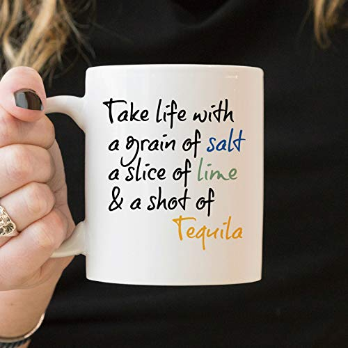 11 Ounces Coffee Mug, Tequila Gifts, Tequila Cup, Tequila Mug, Tequila Decor, Tequila Coffee Mug, Tequila Quote, Tequila Lime Salt, Tequila Life Mug