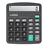 Calculator,Vilcome 12-Digit Solar Battery Office Calculator with Large LCD Display Big Sensitive Button, Dual Power...