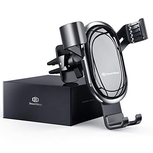 Handyhalterung Auto Lüftung Autohalterung Handy Halterung Schwerkraft KFZ Handy Halter für Auto kompatibel mit iPhone 12 11 Pro Max SE XR, Galaxy S20 A50, Huawei P30 P20 Pro, Navi bis 7 Zoll, Schwarz