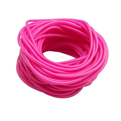keland Braccialetti in silicone gommoso 50P Cinturini in gomma scamosciata con cinturini in gomma (rosa rossa)