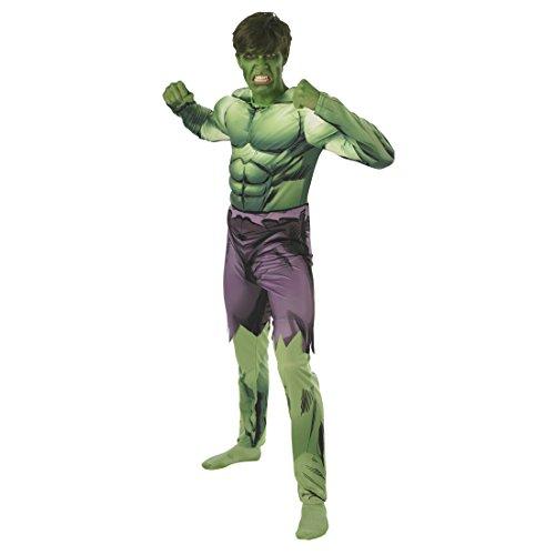 Amakando Grünes Muskelshirt Hulkkostüm Top Halloween Superhelden Muskel Shirt Hulk Kostüm Film Kostüme Herren Marvel Avengers Filmkostüm Superheldenkostüm Oberteil