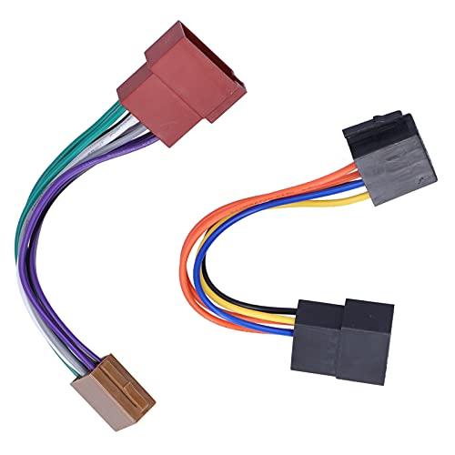 Arnés de cableado de radio, instalación simple Conector de radio estéreo de calidad confiable para Cabrio/Euro Van para automóvil