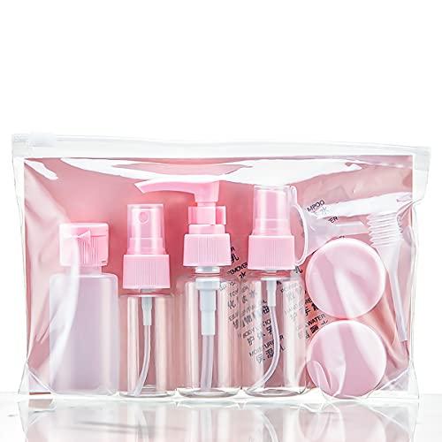 Set di flaconi da viaggio da 11 pezzi Flacone da viaggio vuoto riutilizzabile, contenitore per cosmetici (trasparente), per shampoo, accessori liquidi da viaggio portatili