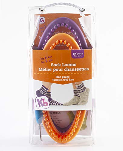Authentic Knitting Board His Her Sock Looms, for Men and Women Size, 52 60 peg, fine Gauge