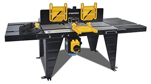 ToolTronix 1800W Bench Mounted Electric Router Table Aluminium Surface 460mm x...