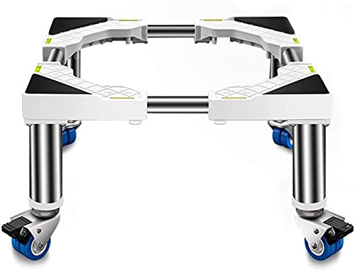 Base de lavadora universal con ruedas 45-65 cm Refrigerador ajustable Trolley Frigorífico extensible Frigorífico Congelador Soporte...