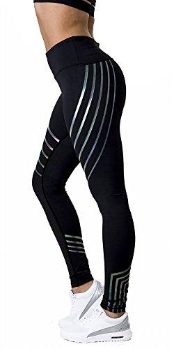 Damen Leggings, Morbuy Sport Gym Yoga Workout Pants Basic Fitness Hohe Taille Jogginghose Trainingshose Skinny Hosen Hose Sporthose (L, Schwarz)
