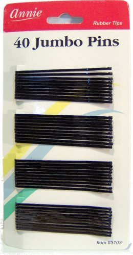 jumbo bob Popular popular hair pins 40 counts Limited price sale roller by Annie BLACK pin