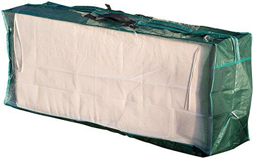 Royal Gardineer Kissenbox: Tasche aus Gewebeplane für Gartenmöbel-Sitzkissen, 130 x 50 x 32 cm (Tragetasche für Auflagen XXL)