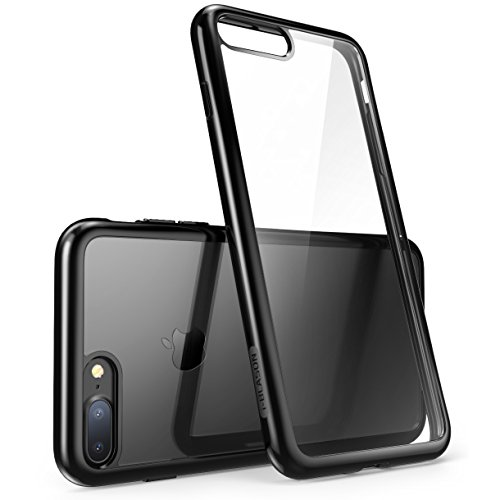 i-Blason iPhone 7 Plus Case, iPhone 8 Plus Case, Scratch Resistant Clear Halo Series for Apple iPhone 7 Plus Cover//Apple iPhone 8 Plus Cover(Black)