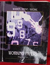 Accounting Chapters 1-12 Warren Reeve Duchac 22e Working Papers Workbook