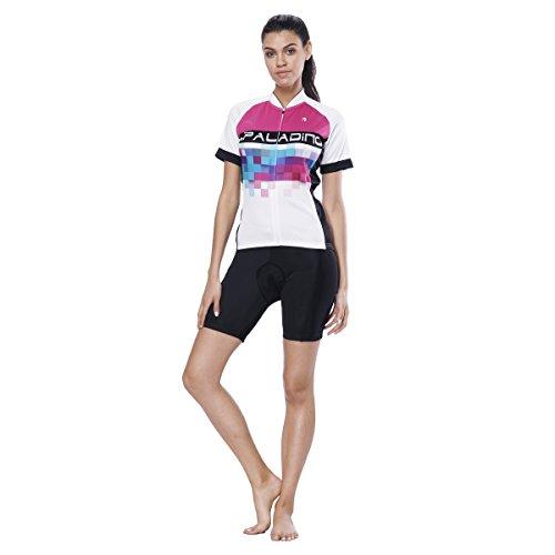 YGBH Maillot Femme, Combinaison VTT Vetement Protection VTT Shirt Maillot Velo Jersey Veste 3D Coussin Absorbant Les Chocs,XXL
