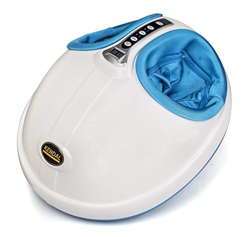 Kendal Foot Massager with Heat, Shiatsu Deep Kneading Therapy Massager Machine, Rolling 3-D Air Pressure to Relieve Foot Discomforts Stress and Blood Circulation