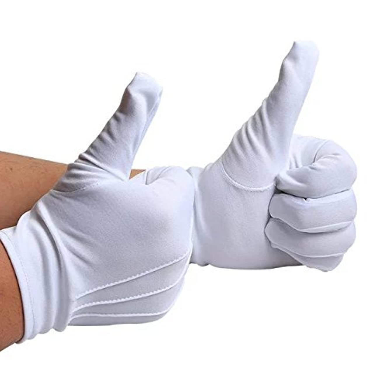 パラメータエンドテーブル水を飲む【10双組セット】 ナイロン 手袋 白 紳士 水洗い可 スリット無し