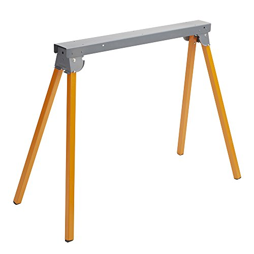 "Bora Portamate All Steel Folding Sawhorse PM-3300 33"" Tall Fold-Up Heavy Duty Saw Horse. Fully Assembled, 500 Lb. Capacity & Quickly Folds Up For Easy Storage"