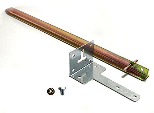 Preisvergleich Produktbild Treibhaus Befestigungs-Set für Montage auf Naturboden mit Alu-Fundament für Gartentec Gewächshaus Typ F5 bis F6