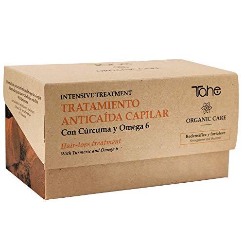 Tahe Organic Care Tratamiento Antí-caida Capilar Intensive Tratamiento Caída del Cabello Redensifica y Fortalece con Cúrcuma y Omega 6 sin Parabenos, 15 x 5 ml