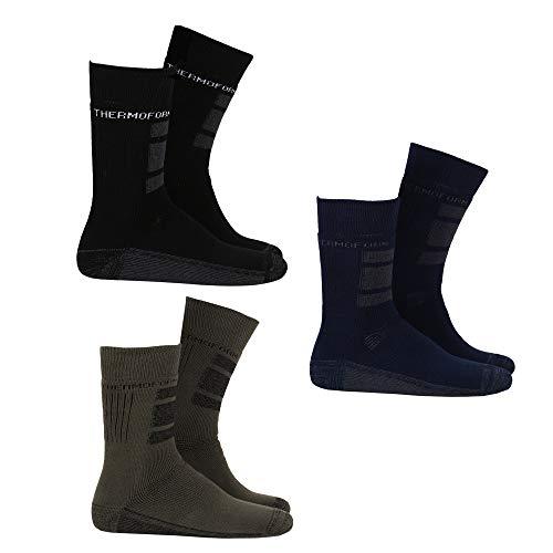 THERMOFORM, set di 3 calzini Worker Socks, protezione particolarmente forte e ammortizzazione per i piedi, in cotone e Thermolite mix 48 IT/50 IT