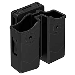 powerful Universal double magazine pouch, 9mm.40 double stack mug. Dual stack mag holster holder …