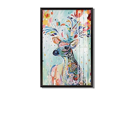 Intravachine, Schlafzimmeraufkleber, Fotorahmen, Hintergrundwand, Wandaufkleber, Wohnzimmer kreatives Hängebild, Nordic Self-Kleber grüne Pflanze kreativ