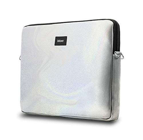 b-Kover vegane Leder Laptop-Hülle, 11|13|14 |15.6|17 Zoll, süße wasserdichte Schutzhülle, Soft Touch Tasche mit Reißverschluß für Arbeit, Schule & Reisen