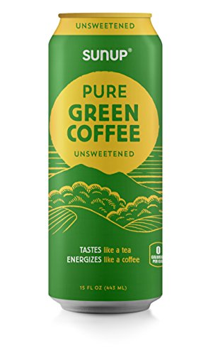 "Sunup Pure Green Coffee, Unsweetened, Made Smooth & Strong From Raw ""Green"" Coffee Beans, Naturally High Energy & Antioxidants, 12 Pack"