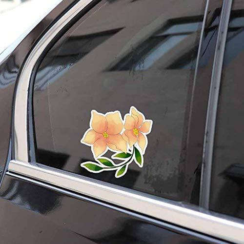 TJJL Auto-Aufkleber 11.6x12.9CM Interessante Blumenstrauß Blumen Auto Aufkleber Zubehör