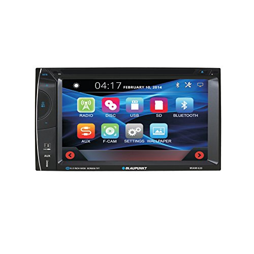 Blaupunkt MIAMI 620 6.2-inch Touch Screen Multimedia Car Stereo Receiver with Bluetooth and Remote Control