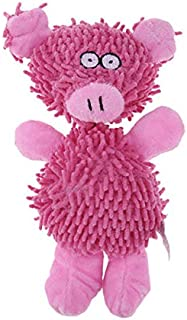 DORLIONA 1PC Soft Pig Animal Pet Doy Toys Chew Squeaker Sound Toy for Dog Interactive Toy : Pink, OneSize
